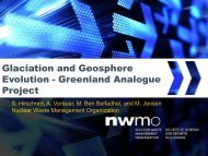 Greenland Analogue Project - Nuclear Waste Management ...