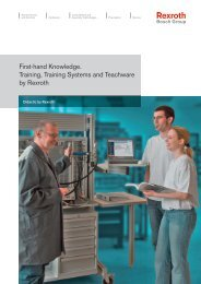 First-hand Knowledge. Training, Training Systems ... - Bosch Rexroth
