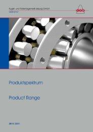 Produktspektrum - und Rollenlagerwerk Leipzig GmbH
