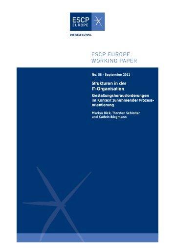 Strukturen in der IT-Organisation - ESCP Europe Business School