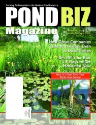 Download the January / February 2009 PDF - Pond Trade Magazine