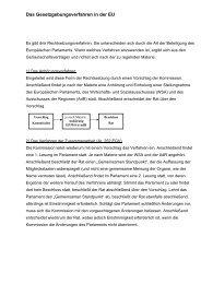 Verfahren der Mitentscheidung - EU-Direct