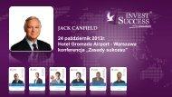 JACK CANFIELD 24 październik 2013r. Hotel Gromada Airport ...