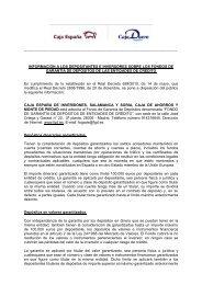 Fondo de Garantía de Depósitos CEISS - Web - Caja España-Duero