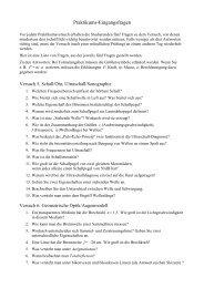 Praktikums-Eingangsfragen