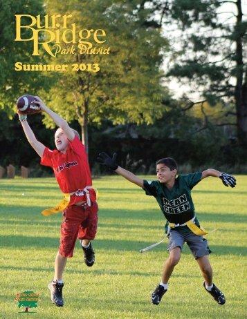 2013 Summer Brochure - the Burr Ridge Park District