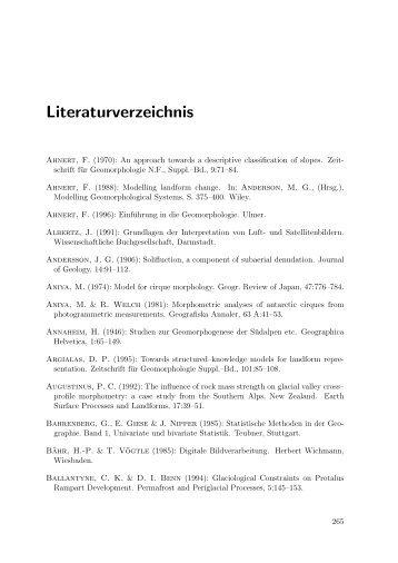 Geomorphometrische Struktur eines mesoskaligen alpinen ...