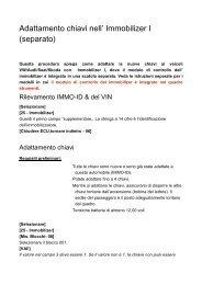 Adattamento chiavi nell' Immobilizer I _separato_ - Auto Consulting