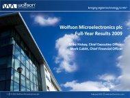 Products - Wolfson Microelectronics plc