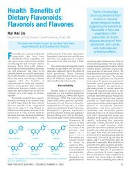 Dietary Flavonoids: Flavonols and Flavones - New York State ...