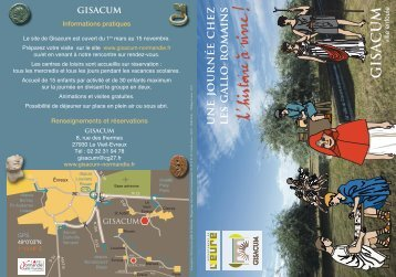 Flyer centre de loisirs Gisacum