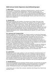 M&M Exhaust GmbH Allgemeine Geschäftsbedingungen