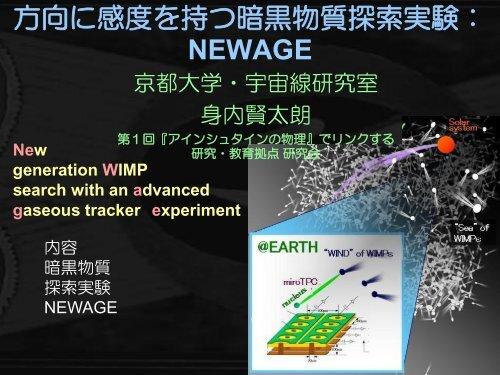 方向に感度を持つ暗黒物質探索実験 - 宇宙線研究室 - 京都大学