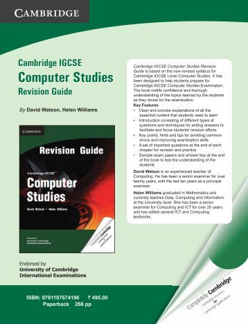 Download the Leaflet - Cambridge University Press India