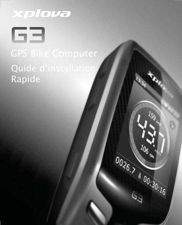 Xplova G3 QG_French