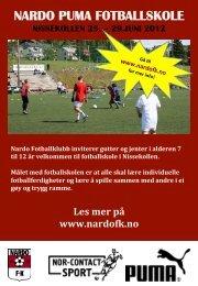 Brosjyre - Nardo Fotballklubb
