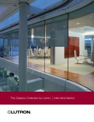 The Classico Collection by Lutron® |roller blind fabrics