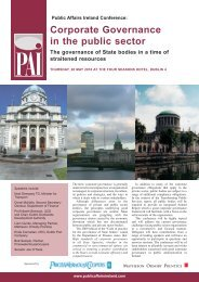 Corporate Governance in the public sector - Public Affairs Ireland