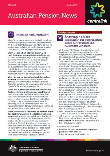 Australian Pension News - German - Department of Human Services