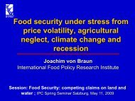 Food security under stress from price volatility, agricultural neglect ...