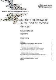 Barriers to innovation in the field of medical devices - digicollection.or..