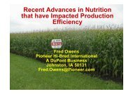 Recent Advances in Nutrition that have Impacted Production Efficiency