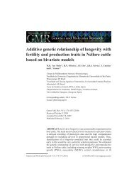 Additive genetic relationship of longevity with fertility ... - Funpec-RP