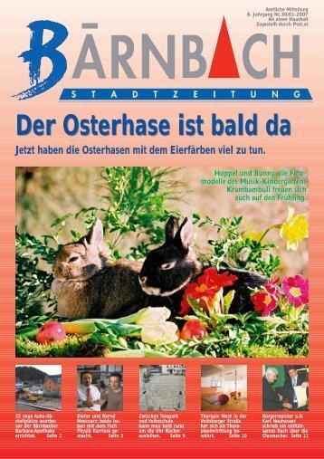 Der Osterhase ist bald da - Bärnbach