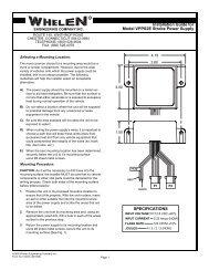 13407: VPPS2E Strobe Power Supply - Whelen Engineering