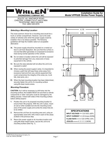 13407 vpps2e strobe power supply whelen engineering whelen tir3 wiring diagram wiring diagram whelen tir3 wiring diagram at soozxer.org