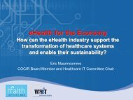 eHealth for the Economy - World of Health IT
