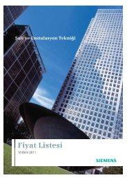 Fiyat Listesi - Siemens