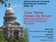 Texas - National Association of States United for Aging and Disabilities