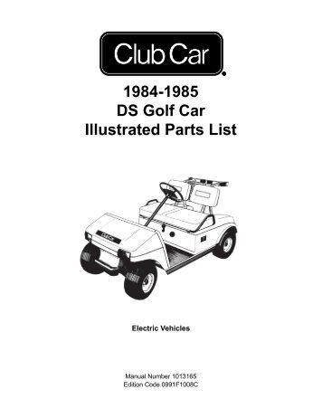 1984-1985 DS Golf Car Illustrated Parts List - Bennett Golf Cars