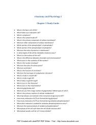 Study guide for cells