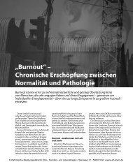 """""""Burnout"""" – Chronische Erschöpfung zwischen Normalität und ..."""