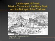 Landscapes of Fraud: Mission Tumacacori, the ... - Sonoran Institute
