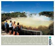 iSITE NZ Corporate Profile & Strategic Plan 2013-2016
