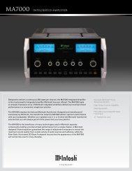 MA7000 INTEGRATED AMPLIfiER - Audio Classics