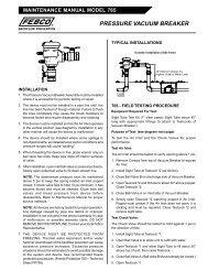 PRESSURE VACUUM BREAKER - Backflow Supply