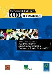 Guide pédagogique 2005-2006 - Eco-Parlement des jeunes