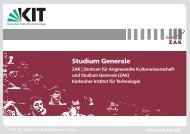 Studium Generale - ZAK - KIT