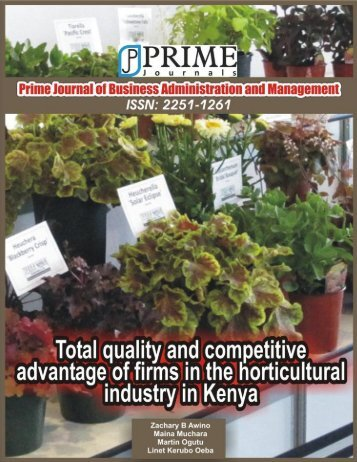 Total Quality Management as a Strategic Tool - prime journals limited