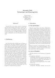 Semantic Web Technologie und Einsatzgebiete - dbis