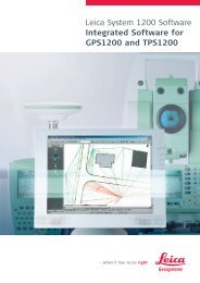 Leica System 1200 Software Integrated Software for GPS1200 and ...