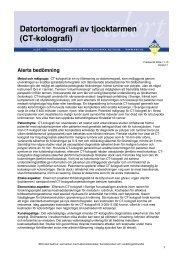Datortomografi av tjocktarmen (CT-kolografi) 041110 - SBU