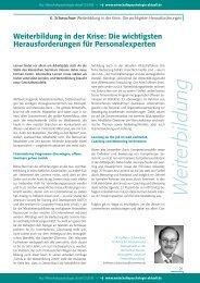 Weiterbildung in der Krise (PDF) - Wirtschaftspsychologie aktuell