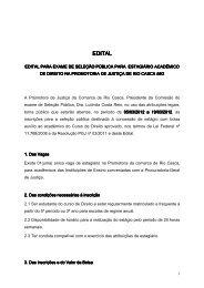 EDITAL DE ESTÁGIO - DTI- Diretoria de Tecnologia da Informação