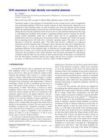 Drift resonance in high density non-neutral plasmas