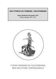 fysisk træning og holdtræning med den store ... - Marina Aagaard